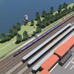 Fig.7 Simulazione area stazione nuovo sottopasso